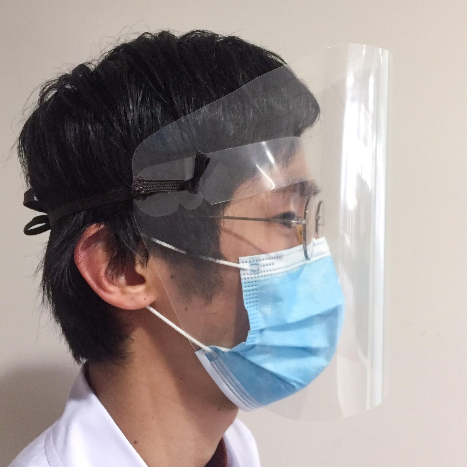 手作り フェイス シールド メガネの上から掛けれる自作フェイスシールドの作り方。